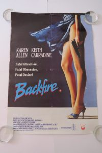 backfire movie poster for sale