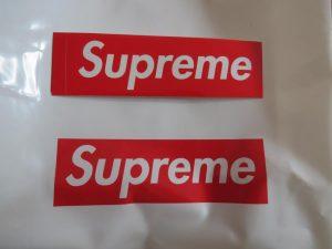 SUPREME RED BOX LOGO STICKER
