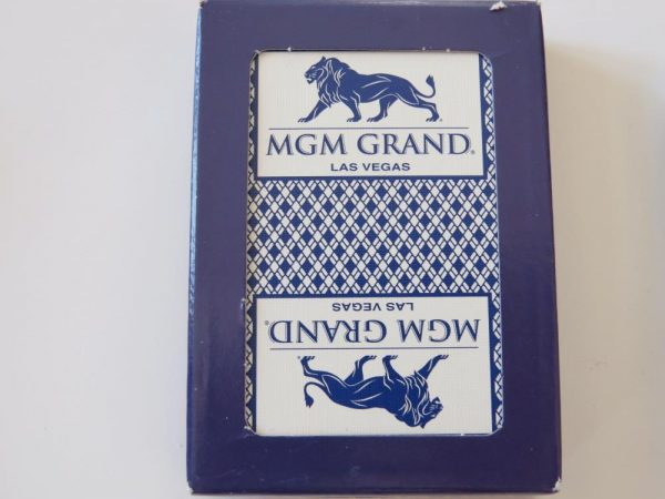 Vegas Poker Playing Cards | MGM Grand Casino | blue