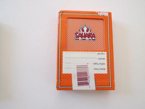 Las Vegas Poker Playing Cards | SAHARA CASINO