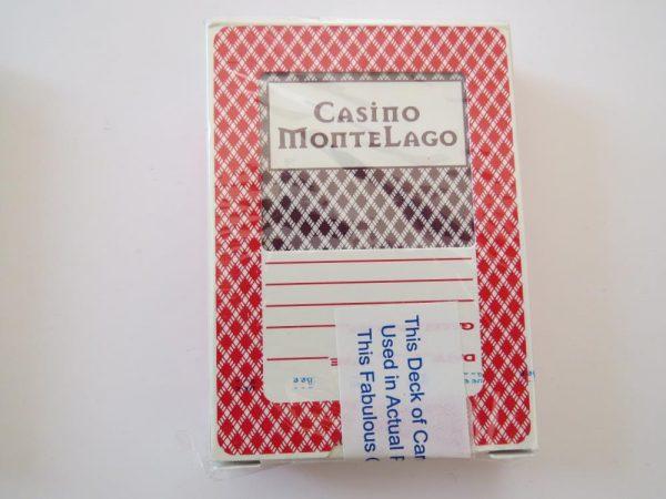 Vegas Poker Playing Cards   MONTELAGO CASINO   red