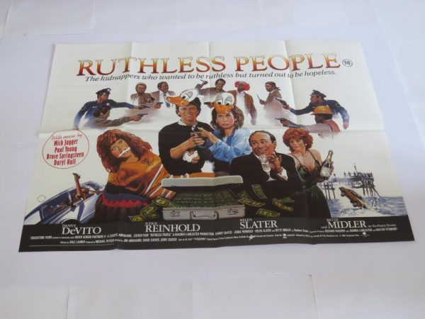 RUTHLESS PEOPLE | UK Quad | Original Movie Poster