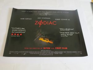 ZODIAC | UK Quad | Original Movie Poster