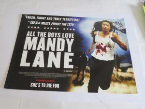 ALL THE BOYS LOVE MANDY LANE | UK Quad | Original Movie Poster