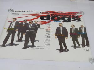 Reservoir Dogs original double sided movie poster. A Quentin Tarantino Movie .Cult Classic