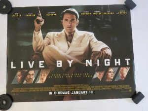 LIVE BY NIGHT | UK Quad | Original Movie Poster