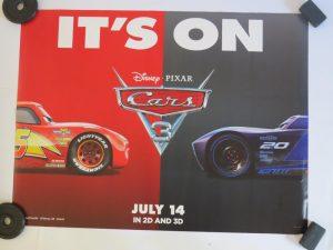 CARS 3   UK Quad   Original Movie Poster