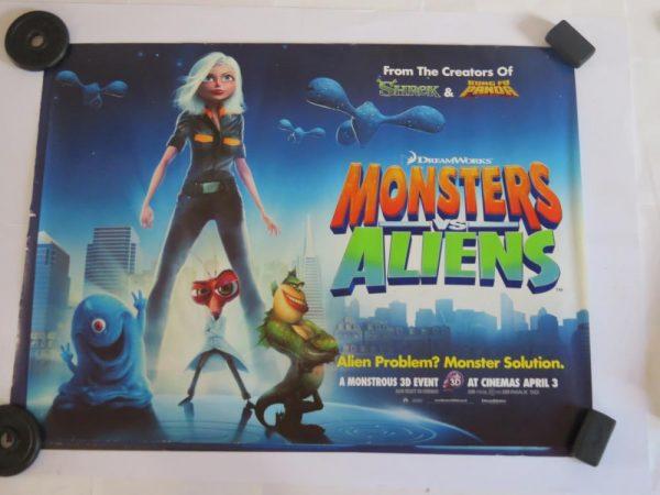 MONSTERS VS ALIENS | UK Quad | Original Movie Poster