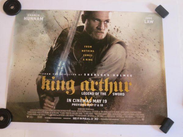 KING ARTHUR LEGEND OF THE SWORD | UK Quad | Original Movie Poster