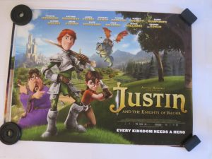 JUSTIN AND THE KNIGHTS OF VALOUR | UK Quad | Original Movie Poster