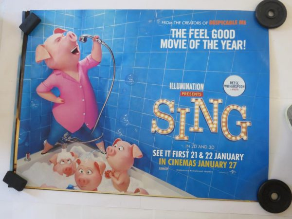 SING | Uk Quad | Original Movie Poster