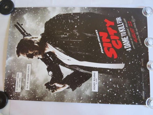 SIN CITY MICKEY ROURKE | One Sheet | Original Movie Poster