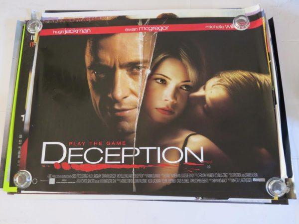DECEPTION | UK Quad | Original Movie Poster