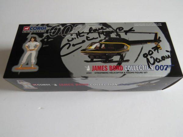 Corgi Classics 007 James Bond | Stromberg helicopter and Naomi figure set | Signed