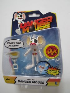 Danger Mouse action figure. hard to find discontinued figure in sealed box