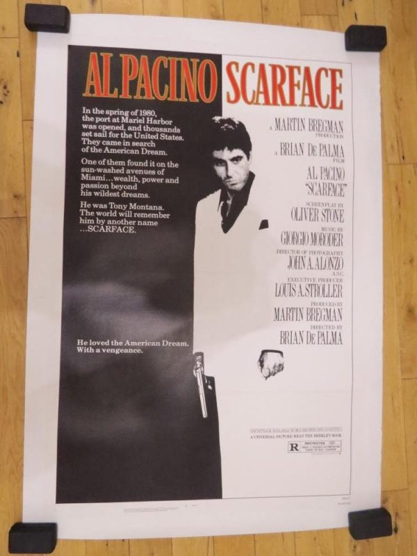 Scarface Original Movie Poster for sale