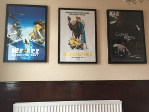 original movie poster display