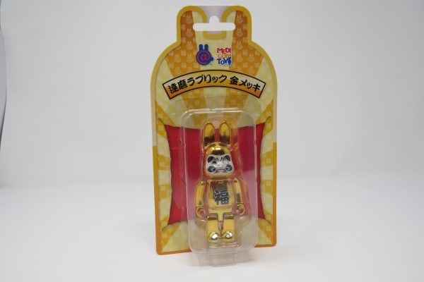 Chrome Gold Be@rbrick Rabbit | Japan Exclusive