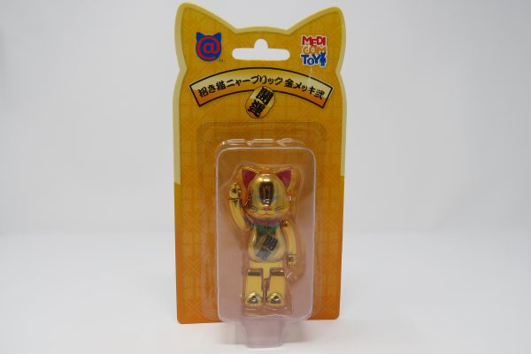 Chrome Gold Be@rbrick Cat | Japan Exclusive