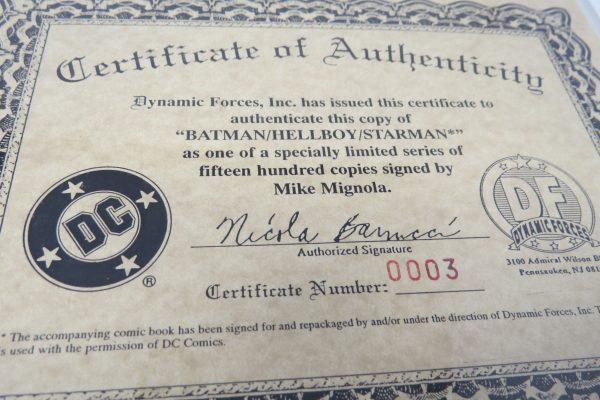 Mike Mignolia Signed Comic | BATMAN HELLBOY