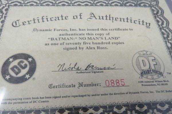 Alex Ross Signed Comic | Batman No Mans Land