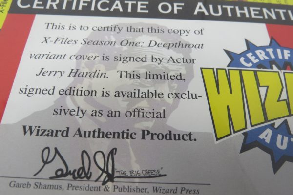 Jerry Hardin signed Comic | X-files Season One