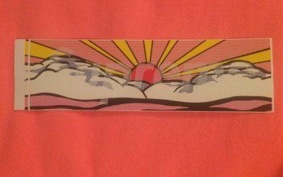Lichtenstein Rising Sun Sticker | Supreme